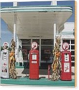 Vintage Texaco Station Wood Print