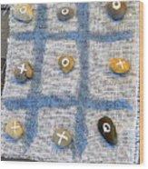 Vintage Tic Tack Toe Game. Wood Print