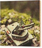 Vintage Tin Tank  Wood Print