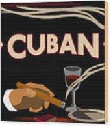 Vintage Tobacco Cuban Cigars Wood Print