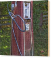 Vintage Tokheim Gas Pump Wood Print