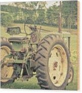 Vintage Tractor Keene New Hampshire Wood Print