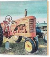 Vintage Tractors Acrylic Wood Print