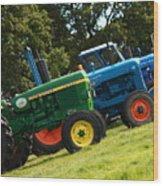 Vintage Tractors Wood Print