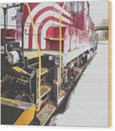 Vintage Train Locomotive Wood Print