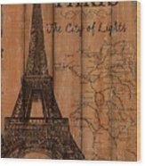 Vintage Travel Paris Wood Print