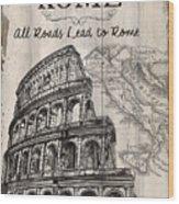 Vintage Travel Poster Wood Print