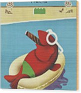 Vintage Travel Poster Italy Wood Print