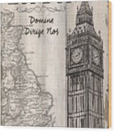 Vintage Travel Poster London Wood Print