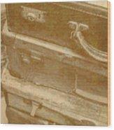 Vintage Travel Stack Wood Print