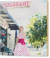 Vintage Val Ice Cream Parlor Wood Print