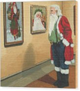 Vintage Victorian - Museum Santa Wood Print