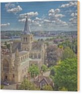 Vintage View Of The Cathedral Wood Print