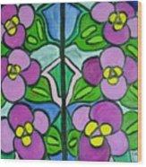 Vintage Violets Wood Print