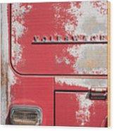 Vintage Volkwagen Emblem Wood Print