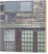 Vintage Warehouse Building Wood Print