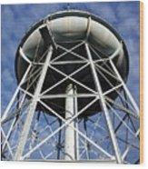 Vintage Water Tower Wood Print