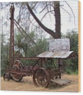Vintage Well Driller 1 Wood Print