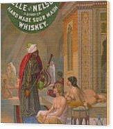 Vintage Whiskey Ad 1883 Wood Print