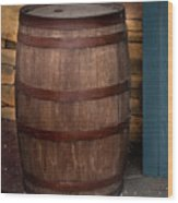 Vintage Wine Barrel Wood Print