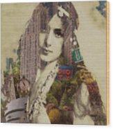 Vintage Woman Built By New York City 1 Wood Print