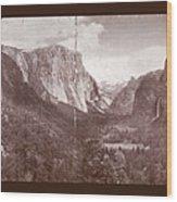 Vintage Yosemite Valley 1899 Wood Print