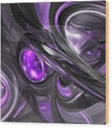 Violaceous Abstract  Wood Print