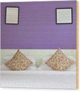Violet Bedroom Wood Print