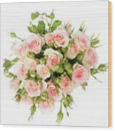 Bouquet Of Garden Roses Wood Print