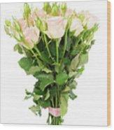 Garden Roses Bouquet Wood Print