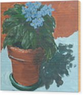 Violet Blues Wood Print
