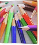 Violet. Colored Pencils Wood Print