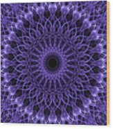 Violet Digital Mandala Wood Print