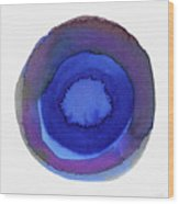 Violet Drops 1- Art By Linda Woods Wood Print