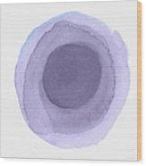 Violet Drops 2- Art By Linda Woods Wood Print