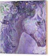 Violet Fantasy Wood Print
