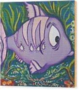 Violet Fish Wood Print