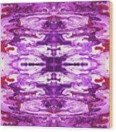 Violet Groove- Art By Linda Woods Wood Print