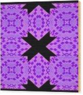 Violet Haze Abstract Wood Print