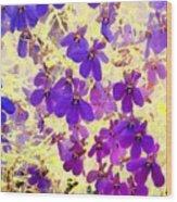 Violet Moths Wood Print