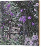 Violet Muted Garden Respite Wood Print