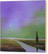 Violet Night Wood Print
