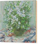 Violet Orychophragmus Wood Print