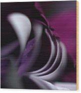 Violet Petals Wood Print