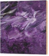 Violet Rhapsody- Art By Linda Woods Wood Print