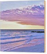 Violet Skies At Nighfall Wood Print