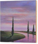 Violet Sky Wood Print