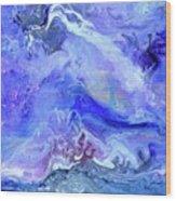 Violet Storm Wood Print
