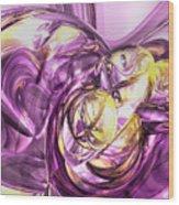 Violet Summer Abstract Wood Print