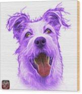 Violet Terrier Mix 2989 - Wb Wood Print